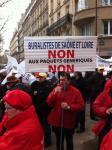 Manifestation des buralistes à Paris...