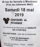 Concours de pétanque au Vernois à Montceau (Sortir)