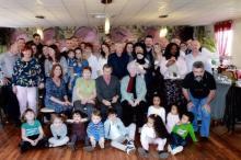 La famille Marmorat réunie aux Essarts (Sanvignes)