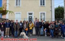Montceau-les-Mines : Rassemblement devant les locaux de l'Inspection de l'Education Nationale