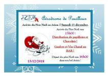 Arrivée du Père Noël en avion à Pouilloux !