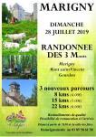 RAPPEL : Randonnée des 3 monts à Marigny le 28 juillet 2019