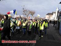"""Marche """"des bidons"""" des gilets jaunes du Magny à Montceau...(1)"""