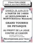 Comité local de la Ligue contre le cancer : « Challenge Hélène et Jean-Pierre Brésillon »