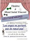 """Théâtre """"Les Fanfarons du Mont St Vincent"""" (Sortir)"""