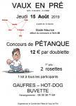 Comité des fêtes de Vaux-en-Pré (Sortir)