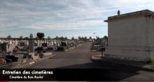 Entretien des cimetières à Montceau (Voir la vidéo)