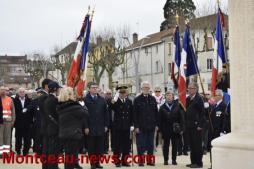 Montceau19 mars 2017: Cérémonie au monument aux morts