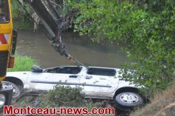 Ce samedi matin, sur la levée du canal à hauteur de Saint-Vallier.. VOIR NOTRE VIDEO