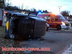 Spectaculaire accident à Gourdon...