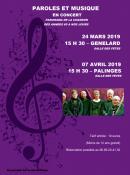 Paroles et musique en concert à Génelard et Palinges (Sortir)