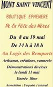 Boutique éphémère  de la fête des Mères à Mont Saint Vincent (Sortir)