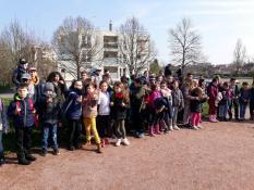Classe-environnement d'élèves de l'école Lucie Aubrac à Blanzy