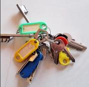 Trousseau de clés trouvé à Saint-Vallier
