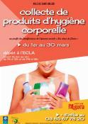 Collecte de produits d'hygiène corporelle à Saint-Vallier