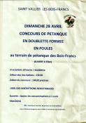 Concours de pétanque aux Bois Francs à Saint-Vallier (Sortir)