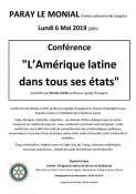 """Conférence """"L'Amérique latine dans tous ses états"""" à Paray-le-Monial"""