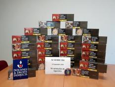 Saisie de 56 cartouches de cigarettes destinées à l'exportation