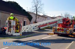 Incendie, ce samedi matin, rue de Bellevue à Montceau