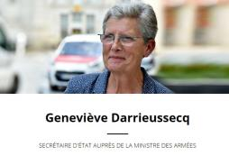 Geneviève Darrieussecq, Secrétaire d'État auprès de la ministre des Armées en Saône-et-Loire