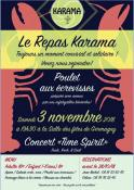 Repas-concert Karama - Time Spirit à Germagny (Sortir)