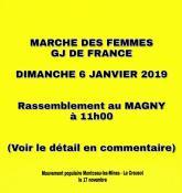 Marche des femmes gilets jaunes de France