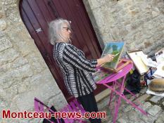 Peintres au village (Mont-Saint-Vincent)