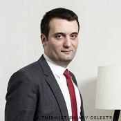Florian Philippot, vice-président du FN, député français au Parlement Européen  (Politique)