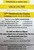 10ème randonnée des coucous à Vaux-en-Pré (Sortir)