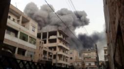 Bombardement de la ville de Idlib (Syrie)
