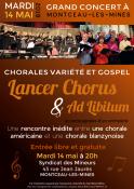 Rencontre de chorales le 14 mai 2019 à Montceau