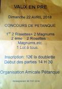 Amicale Pétanque de Vaux-en-Pré (Sortir)
