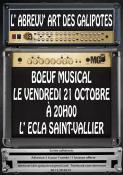 Bœuf musical, c'est ce vendredi 21 octobre à Saint-Vallier