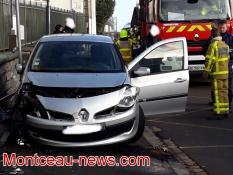 Nouvel accident à Montceau, ce mardi matin....