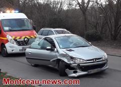 Montceau - Accident de la circulation, rue Saint Eloi...