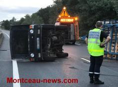 Faits divers : accident,  ce samedi soir sur la RCEA à la hauteur de Ciry-le-Noble...