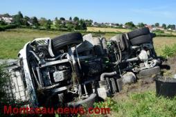 A Saint-Berain-sous-Sanvignes, Accident sur la D57