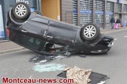 Spectaculaire accident, ce lundi matin à Montceau