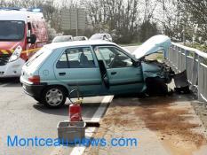 Accident, ce lundi après-midi, boulevard  Henri Dunant à Saint-Vallier
