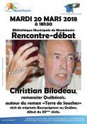 Rencontre-débat , le mardi 20 mars à Montchanin