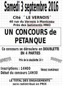 Concours de pétanque CNL Le Vernois (Sortir)