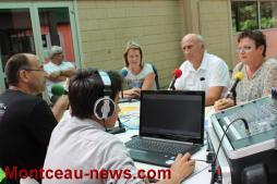Visite des élus au centre de loisirs Bouteloup à Saint-Vallier