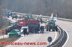 Manifestation agricole en Saône-et-Loire
