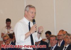 Visite du Ministre de l'économie et des finances en Saône-et-Loire, Bruno Le Maire
