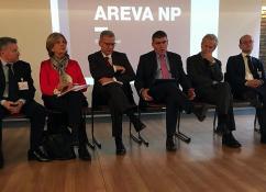 Visite de Messieurs JB. LEVY (PDG EDF) et B. FONTANA(CEO AREVA NP) sur les sites de Saône et Loire (Social)