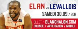 BASKET (Pro A) : « Elan Chalon – Levallois »
