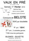 Concours de belote (Vaux en Pré)