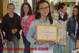 Remise des prix au collège Saint Gilbert (Montceau)
