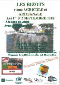Foire des 1er et 2  Septembre 2018 (Les Bizots)