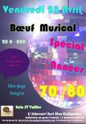 Vendredi 28 avril 2017 à partir de 20h à l'ECLA, bœuf musical spécial année 70/80